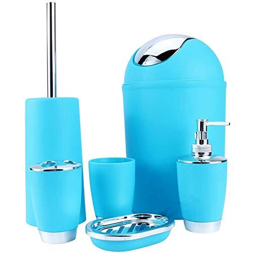 Plastic set wasmand Can verzinkt Badkamer Set Six-delige badkamer set