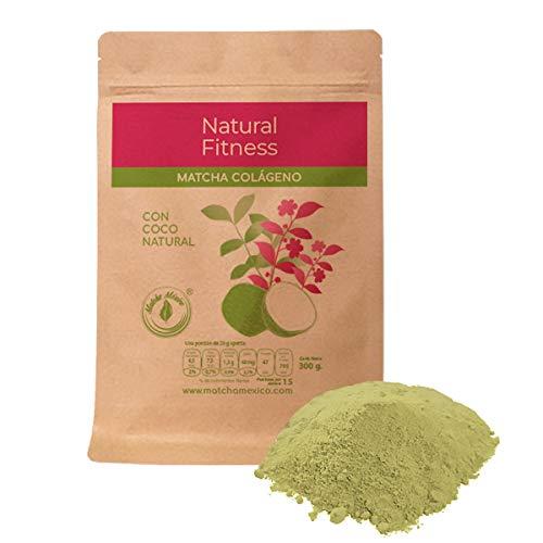 Colágeno Hidrolizado con Matcha Orgánico 300g - Con Coco Puro Para Mejorar El Sabor/Aporta Antioxidantes Y Más Energía, Sin Endulzante