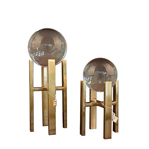 DAMAI STORE Una Columna de aleación de Metal Bola de Cristal Regalos creativos de Muebles for el hogar artesanía de Cristal H bis Bola de Cristal Transparente 11 * 32 cm de Alto, 11 * 22cm Low