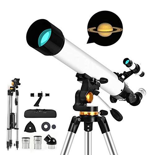 Telescopio astronómico para niños, telescopio refractor portátil súper transparente de 700/70 mm, con trípode ajustable y bolsa de transporte para principiantes en astronomía Buen compañero para ver