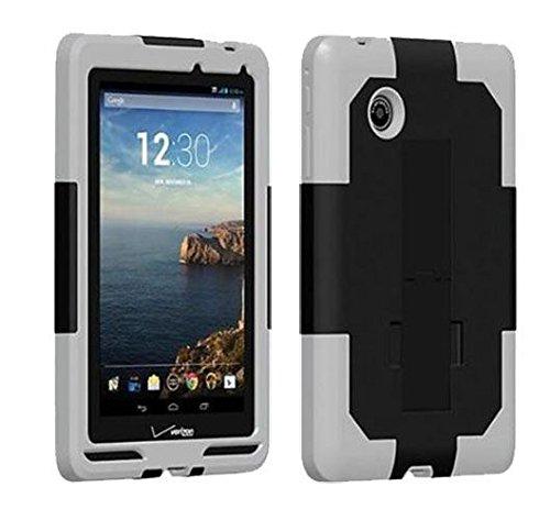 Verizon OEM Dual Cover with Kickstand for Ellipsis 7 - Black Grey