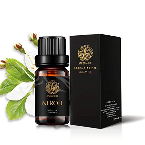 Neroli Olio Essenziale per diffusore, terapeutico Grade Neroli profumato olio, 100% Pure Aromaterapia Olio essenziale Neroli profumo per umidificatore 0.33oz-10 ml