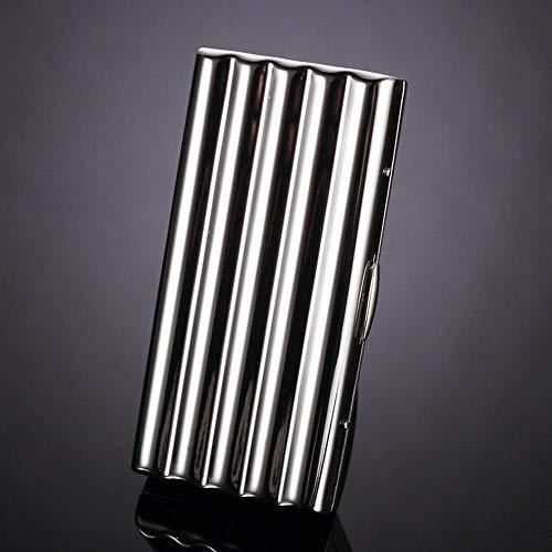 Portable Pocket Cigarette Case, Stainless Steel Roken Box, Heren Social Gift, Anti-druk Vocht-proof Cigarette Case. (Size : 10pcs)