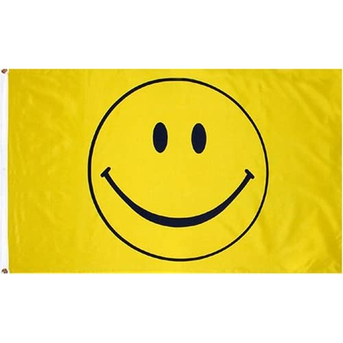Five Yellow Smiley Face 3/'x 5/' Novelty Flag Single Side