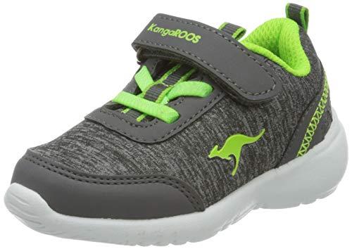 KangaROOS KC-Citylite EV Unisex Baby Sneaker, Grau (Steel Grey/Lime 2014), 29 EU