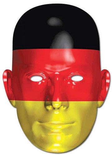 Empire Interactive Drapeau Allemagne – Fan Masque en Carton de, en Carton Brillant de qualité avec Trous pour Les Yeux et élastique 30 x 21 cm