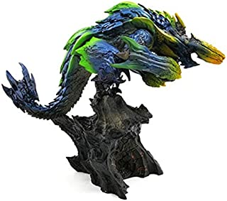 VKISI Monster Hunter World Steel Dragon Black Eclipse Dragon Thunder Wolf Bubble Fox Dragon Limited Edition Hand Handmade PVC Figure Must Haves for Kids Childrens Favourites