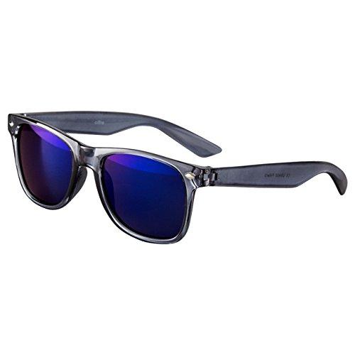 Ciffre EL-Sunprotect® Sonnenbrille Nerdbrille Brille Nerd Transparent Grau Blau Glas UV400