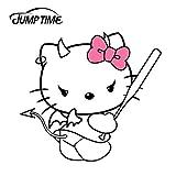 RSZHHL Skip Time 13cm x 11.8cm Hello Kitty, Linda Pegatina d