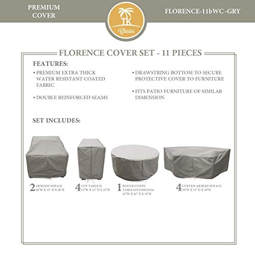 TK Classics FLORENCE-11b Protective Cover Set, in Grey Grey