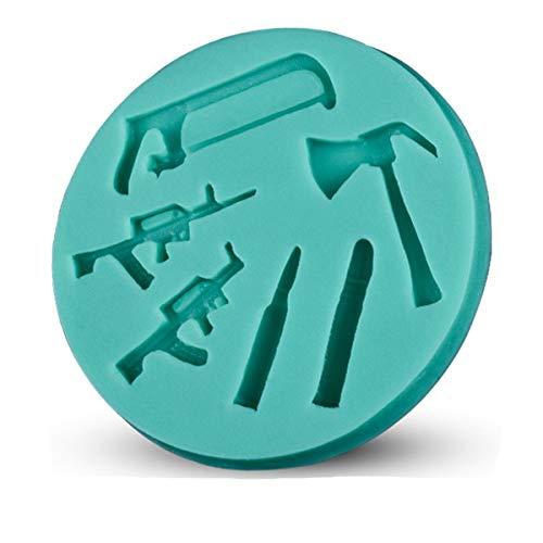 Stampi Silicone Muffa del Sapone della Decorazione del Fondente 3D della Pasta di Zucchero a Forma di Arma di spedizione Gratuita e Veloce D295