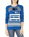 STAR WARS Suéter Feo de Navidad para Mujer, R2d2/Azul, M