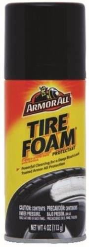 Armor All Car Tire Foam Spray Bottle, Protectant Cleaner for Cars, Truck, Motorcycle, 4 Oz, 9767
