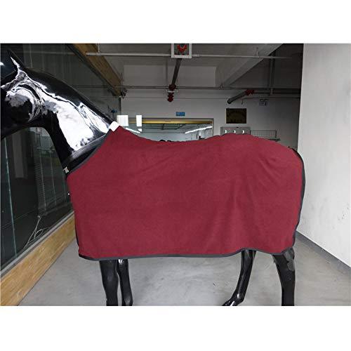 LOVEPET Coperta di Cavallo Primavera Autunno Inverno Interno all'aperto Fodera per Cavallo Pile 300G Rosso Scuro
