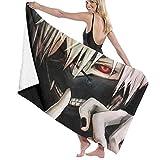 Tokyo G-houl Toalla de playa de microfibra para mujer y niños/hombre, secado rápido, premium para natación, spa, viajes, yoga, deportes, camping, tumbonas o ducha 81 x 132 cm