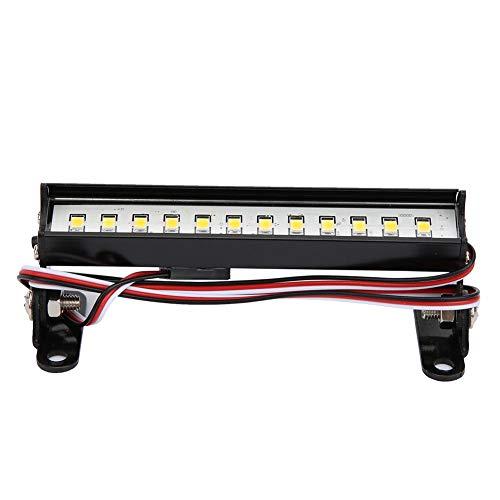 T best Barra de luz de Techo RC, 93mm 15 Luz de Techo LED 1/16 1/12 Accesorio de modificación de Coche RC