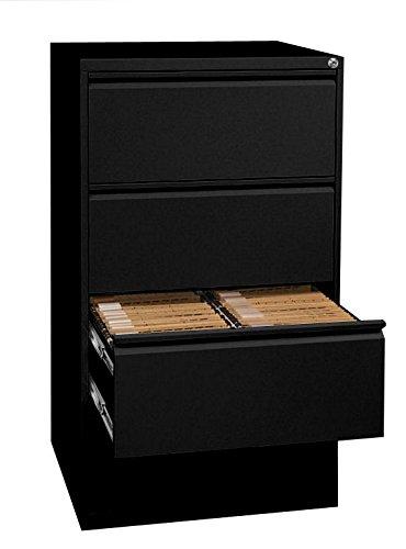 Profi Stahl Büro Hängeregistratur Schrank Bürocontainer schwarz 1320 x 760 x 620mm (HxBxT) mit 4 Schüben, doppelbahnig 561429 kompl. montiert und verschweißt