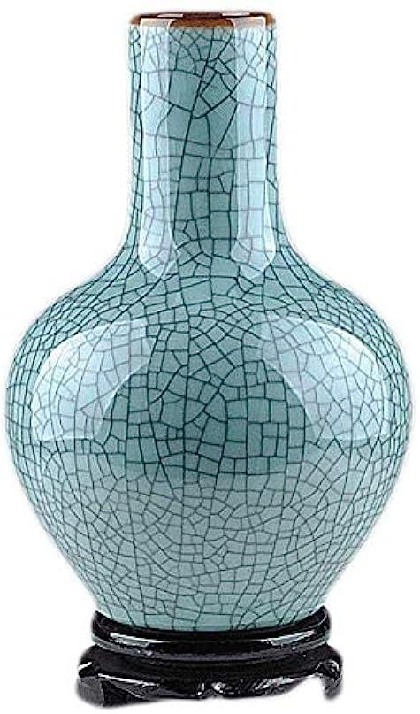 うなり声啓示理論花瓶 セラミック花瓶の装飾リビングルームの装飾フェイクフラワー植物の花ブルー節リビングルームベッドルーム30 * 20センチメートル