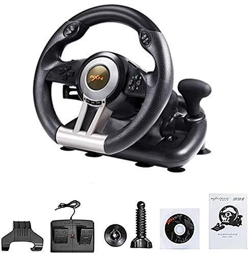 Racing Wheel, 180 degrés USB Universal Car Sim Race Volant avec des pédales for PS3, PS4, X-One, Switch ZHNGHENG
