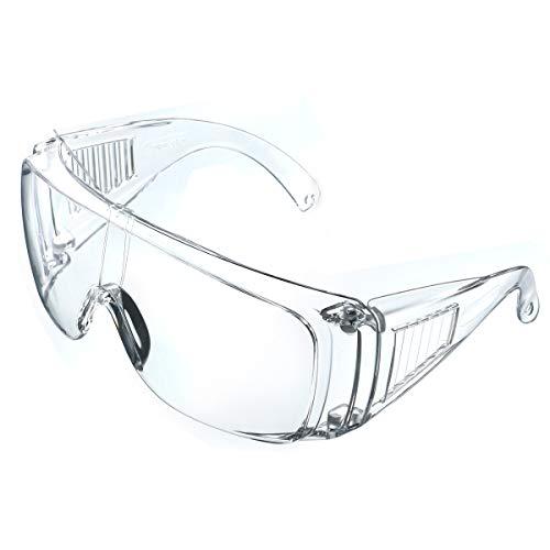 NASUM Plegable Gafas Protectoras, Gafas de Seguridad, Gafas a Prueba de Polvo, para Uso Industrial, Agrícola o de Laboratorio (1 Par) 🔥