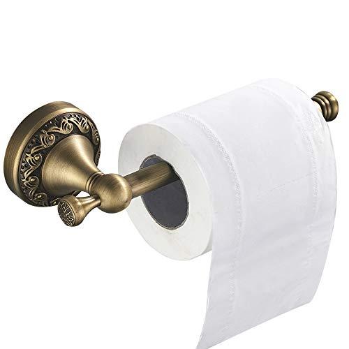 WOMAO Toilettenpapierhalter Messing Vintage Retro Antik Klorollenhalter Unterputz Wandmontage Werkstatt WC Papier Halterung