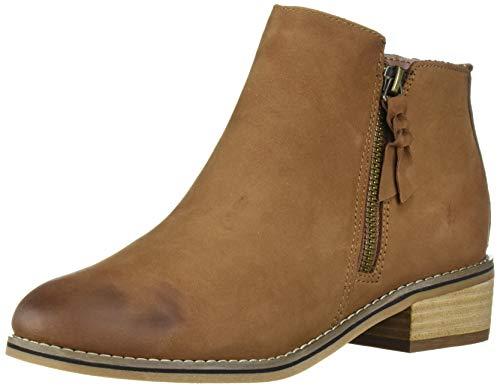 Blondo Women's Liam Waterproof Ankle Boot, Cognac Nubuck, 7 M US