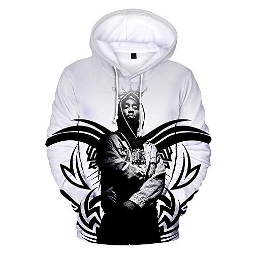 nobrand Rap 2PAC Hoodies Herren Sweatshirt Kapuze Herren/Damen 2Pac Pullover Pullover Winter Cap Trainingsanzüge Langarm locker