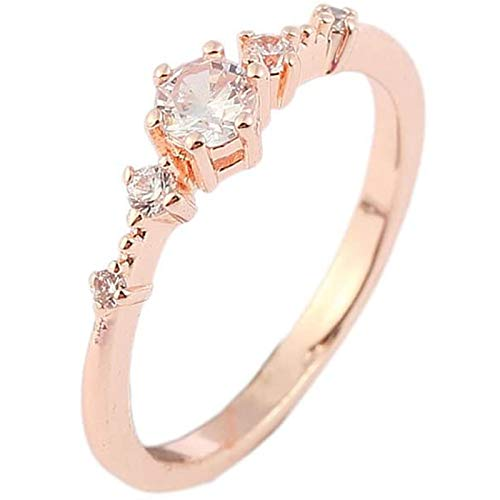 LJWJ Rings Women Elegant Girls Water Drill Exquisite Ring,Jewelry Lovers Fashion Gifts Creative/Gold / 18.9mm