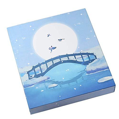 WJJJ Photo Album Boxed, Aluminium-Heftklammerbindung Traditionelles Interstitial-Album, Albumgröße ist 45X35X5Cm Fotos Tourismus-Liebe (Farbe: Blau, Größe: 45X35X5Cm)
