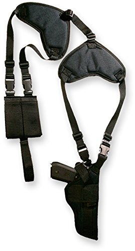 Bulldog Cases Deluxe Shoulder Harness with Holster and Ammo Pouch, Horizontal (Fits Most Revolvers with 3 - 4-Inch Barrels, S & W K,L,N Frame) by Bulldog Cases