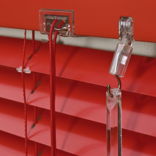 Alu Jalousie Rot - Breite 50 bis 240 cm - Höhe 130/160 / 220 cm - Tür Fenster Rollo Jalousette Aluminium Fensterjalousie Lamellen Metall (50 x 160 cm)