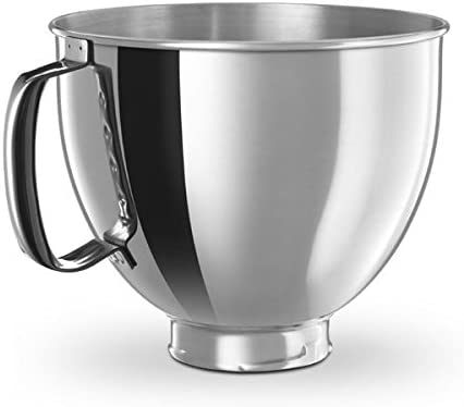 KitchenAid K5THSBP Artisan 5 Quart Stainless Bowl with Comfort Handle Hand Stand product image