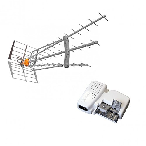 Televes Pack antena DAT HD BOSS 790LR 4G LTE 19dB especial réceptions difficile TDT UHF + Alim S