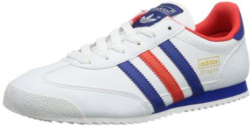 adidas Dragon J, Chaussures de fitness outdoor garçon - Blanc (Running White Ftw / Pride Ink F13 / Hi-Res Red F13), 39 1/3 EU