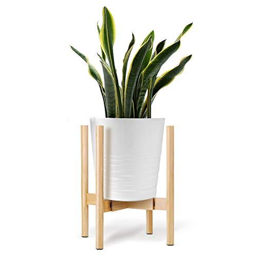 ONE SIGHT フラワースタンド 花台 竹製 鉢スタンド 幅30cmまで調整 観葉植物 台 植木鉢おき プランター プラントスタンド 木製 100KG耐荷重 屋外室内 【1年安心サービス】