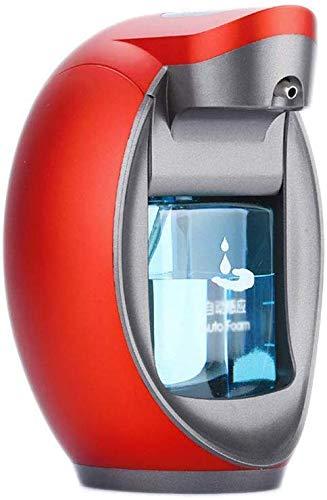 JXXDDQ Dispensador de jabón de espuma inteligente para el hogar para colgar en la pared, dispensador de jabón y soporte para eliminar residuos (tamaño: rojo)