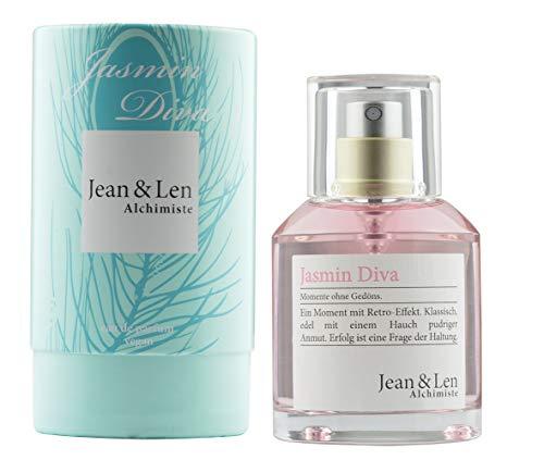 Jean & Len Damenduft Jasmin Diva, Parfüm für Damen, Eau de Parfum, Duftnoten: natürlich, harmonisch, romantisch, 50 ml, 1 Stück, 2902101303
