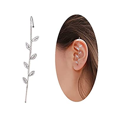 Personalized Ear Wrap Crawler Hook Earrings Sash Ear Needles Around The Auricle Clip Jewelry Hook Earrings for Women Girls and Valentine Birthday Party Gift