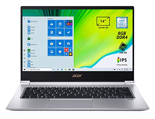 "Acer Swift SF314-55-7399 Notebook con Processore Intel Core i7-8565U, RAM 8 GB DDR4, 256 GB Intel PCIe SSD, Display 14"" FHD IPS LED LCD, Grigio"