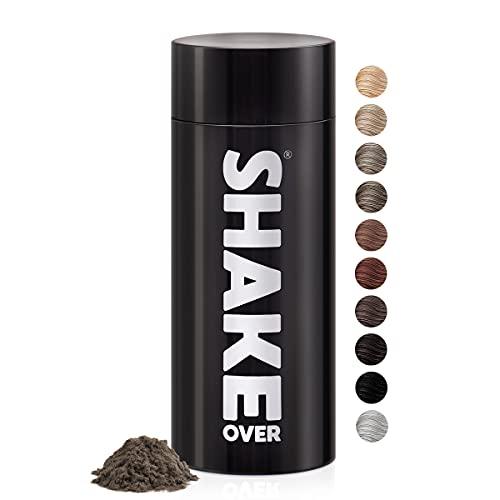 shake over© - Fibres Capillaires Densifiantes Végan, Riche en Zinc, Épaissit les Cheveux Fins, Haute Qualité et Fabrication EU, 30g (BLOND FONCÉ)