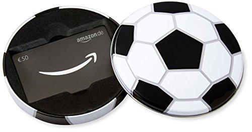 Amazon.de Geschenkkarte in Geschenkbox - 50 EUR (Fussball)