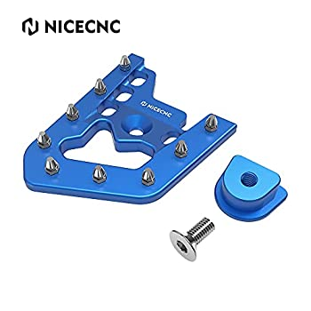 NICECNC Blue Foot Brake Pedal Lever Peg Pad Extender Compatible with YAMAHA RAPTOR 700 2013-2018 2019 2020,700R 2016-2020,700R SPECIAL EDITION 2013-2016,2018 2019 2020