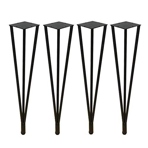 ZXL Heavy-vorkpoten van ijzer, industrieel design, verstelbare tafelpoten, voor salontafel/keuken/eettafel/bureau met schroeven, 4 stuks