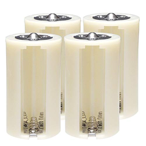 KAUMO 単3電池を3本入れて単1電池にする電池スペーサー 高耐久 4個セット 電池変換アダプター