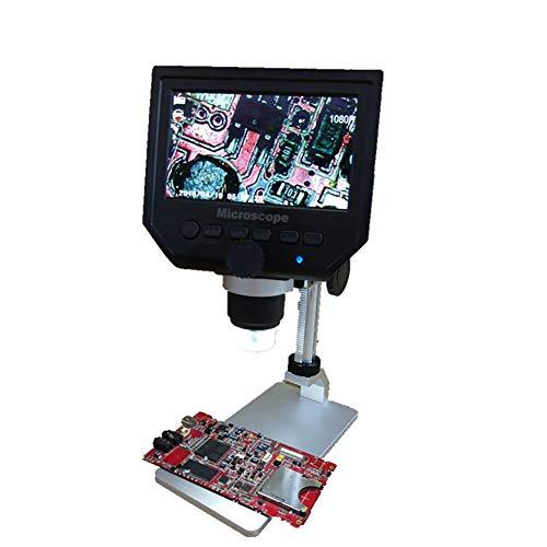 FYRS Hd digitale elektronenmicroscoop 600 keer met scherm industriële microscoop om aluminiumlegering beugel te verzenden