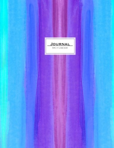 Journal (Diary, Notebook): Watercolor Stripes Cover, XL 8.5 x 11 Lined (Journals To Write In)
