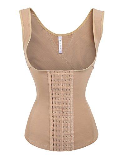 Ekouaer Plus Size Waist Trainer Cincher Womens Body Shapewear,Nude,4XL fit 41 - 43 Inch Waistline