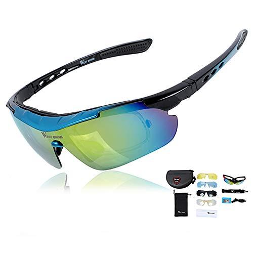 KADDGN Polarisierten einen.Kreislauf.durchmachengläser Anti-Nebel-Sonnenbrille-Sport-Fahrrad-Gläser mit Rahmen MTB Fahrradbrille Brillen,C