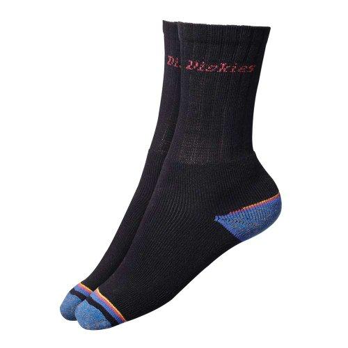 Dickies Arbeit gepolstert 3 Pack Socken mit verstärkter Ferse & Spitze schwarz