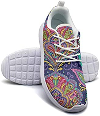 Hobart dfgrwe Mandala Colorful Ethnic Pattern Womans Skateboard Casual Shoes Sneakers Fashion Running Shoes